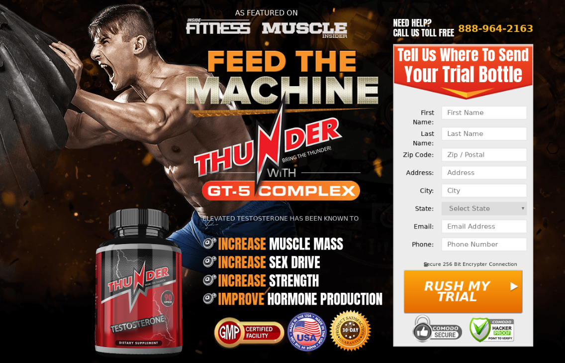 Thunder D Testosterone | Confidance is Our # Goal, Increase Sex Drive!