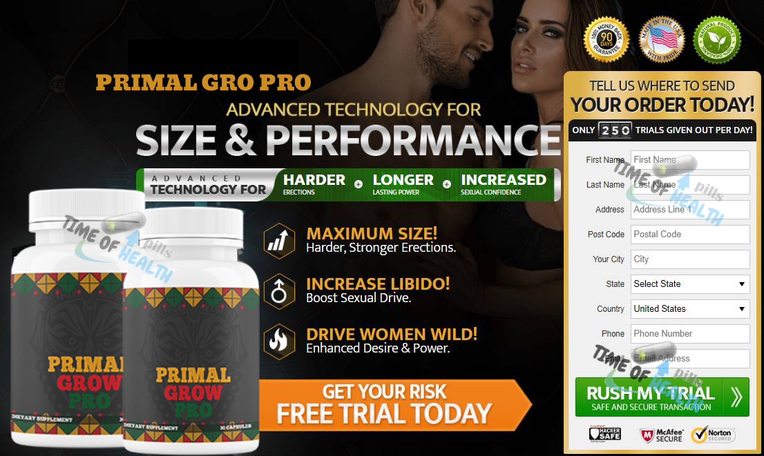 Primal Grow Pro® *UPDATE 2020* Hader Erection, Increased Sexual Size