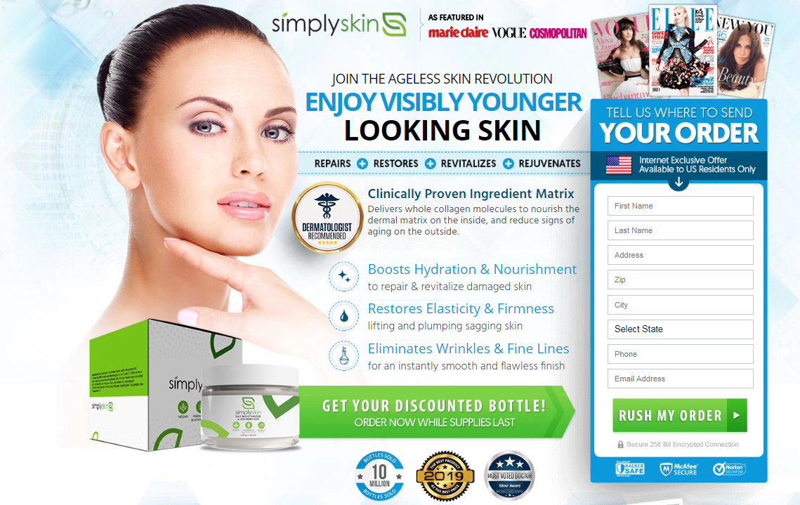 Simply Skin Cream® *UPDATE 2020* Price, Benefits, Scam, Reviews?