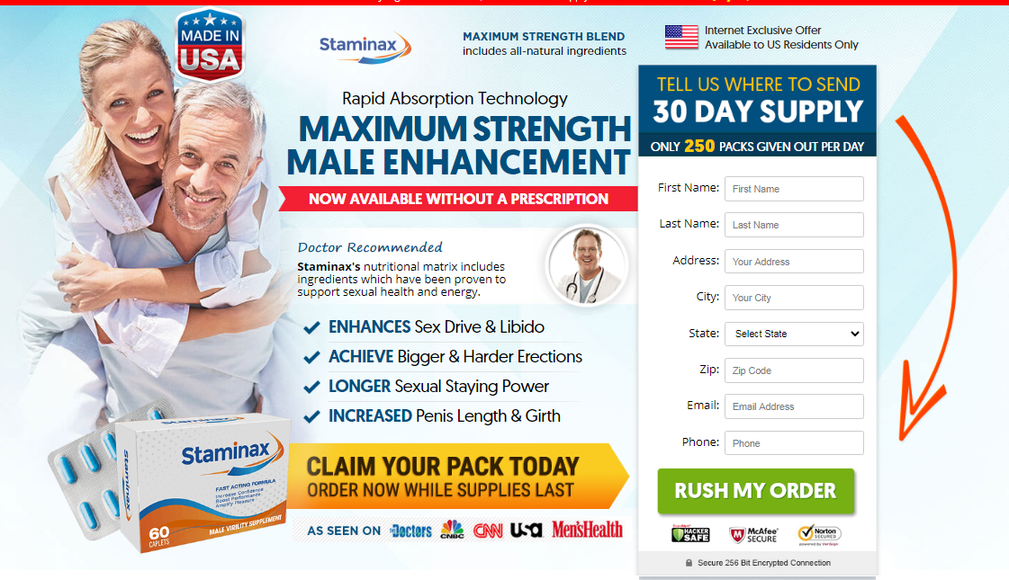 Staminax Male Enhancement Pills®【UPDATE 2020】Its Scam or Legit?