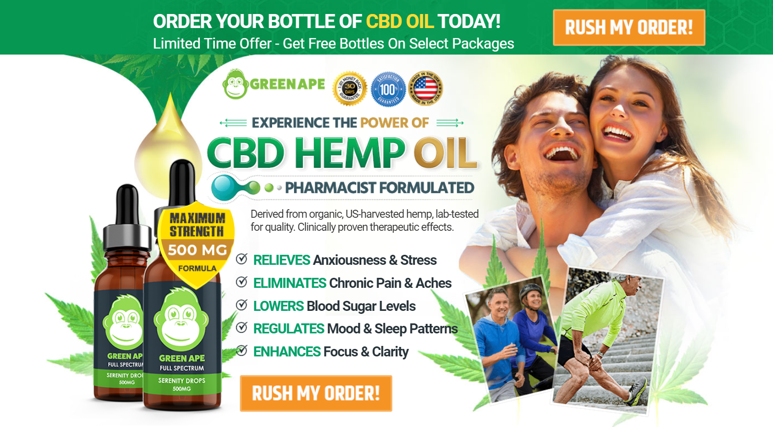 Green Ape CBD Oil® [100% Legit CBD Oil] Benefits, Ingredient, Price?