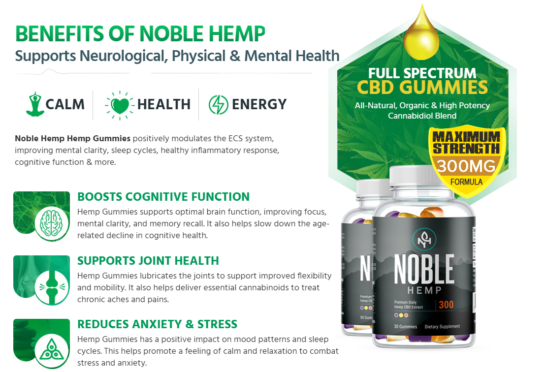 Noble CBD Gummies - [Modify 2020] Safe Product to Research?