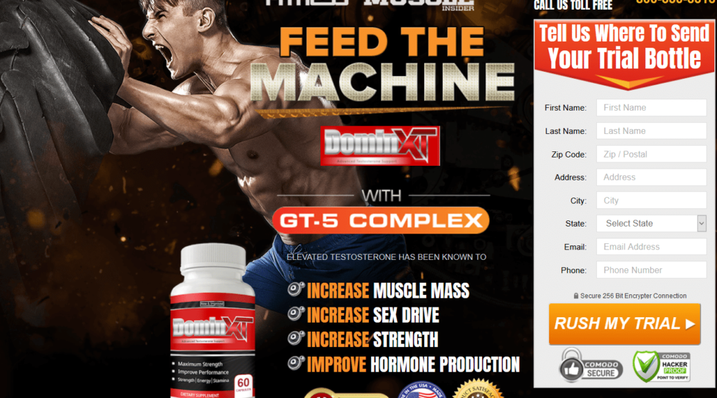 Domin XT Male Enhancement [Domin XT Reviews] Feed The Machine!
