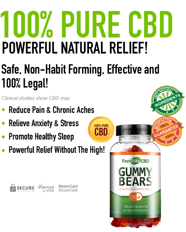 Feel Elite CBD Gummies – Multiple Strength Jars