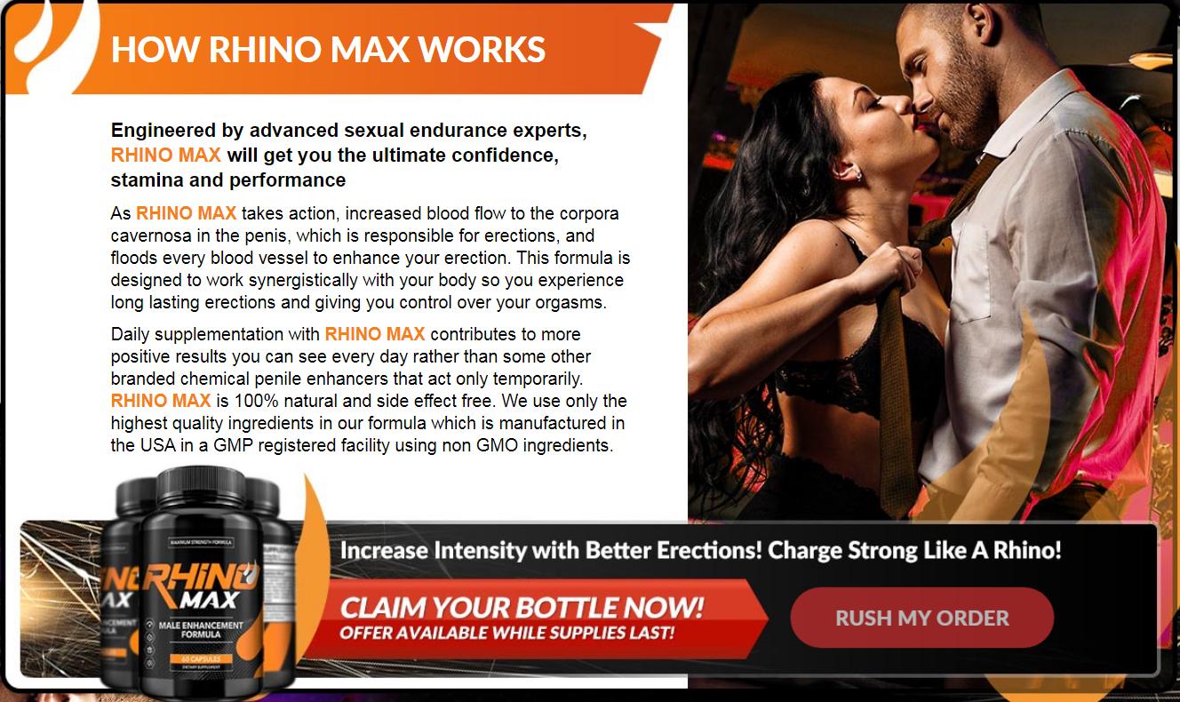 """RhinoMax Male Enhancement® """"Pros & Cons"""" Where to Buy RhinoMax?"""