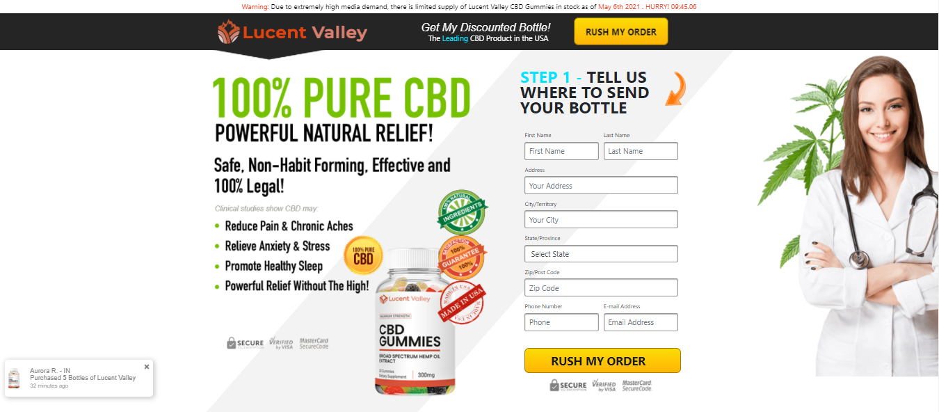 """Lucent Valley CBD Gummies """"Pros & Cons"""" How Buy Lucent Valley CBD?"""