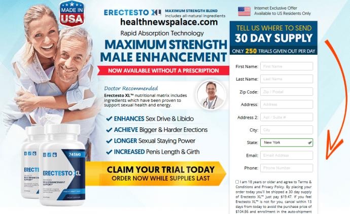 Erectesto XL Reviews (Shark Tank Pills) Its Really Works?
